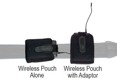 The difference between the Wireless Pouch alone and used with the Adaptor